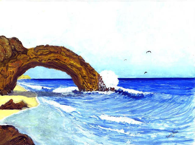 James Parker  'Ocean Arch', created in 2003, Original Drawing Pen.