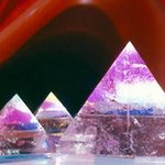 Triple Crystal Pyramids By James Parker