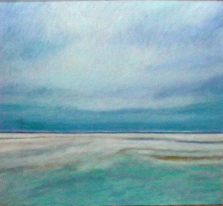 Jane Mcnichol: 'The Big Beach', 2012 Oil Painting, Beach.  This is a landscape done by the Atlantic Ocean on the New Jersey coast ...