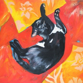 Jane Spence Artwork Lazarus Cat I, 2010 Oil Painting, Undecided