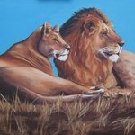 Lioe And Lioness Resting, Janet Page