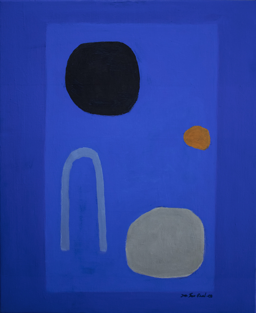 Jan-Thomas Olund  'Blue No 4', created in 2020, Original Collage.