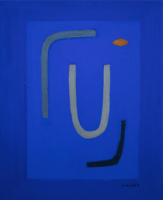 Jan-Thomas Olund  'Blue No I', created in 2020, Original Collage.