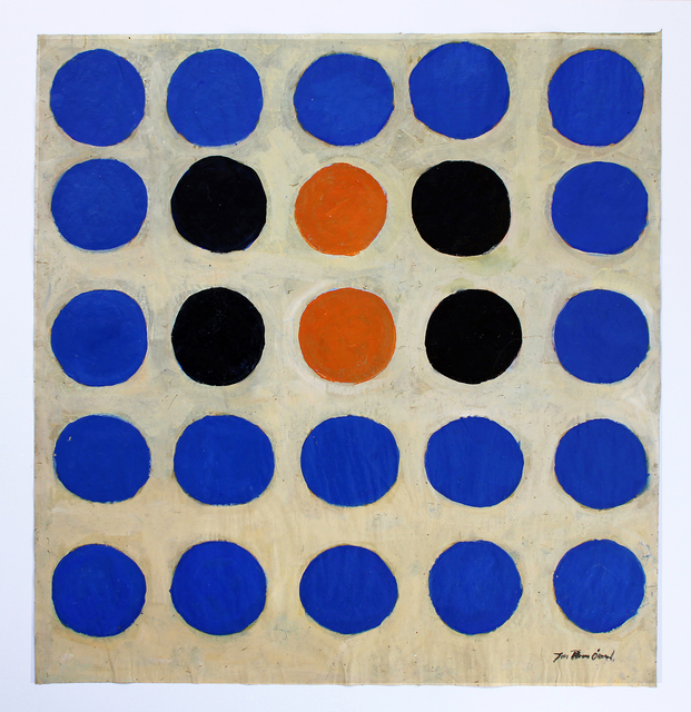 Jan-Thomas Olund  'Happy Dots', created in 2020, Original Collage.