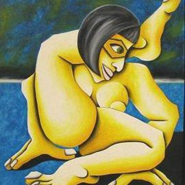Jan Vasa: 'Jogi', 2000 Oil Painting, nudes. Artist Description: oil on canvas panel thickness 3/ 16...