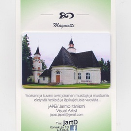 Jarmo It�niemi: 'Photo magnet', 2014 Color Photograph, Architecture. Artist Description:  Cathedral of YLIHARMA Finland  ...