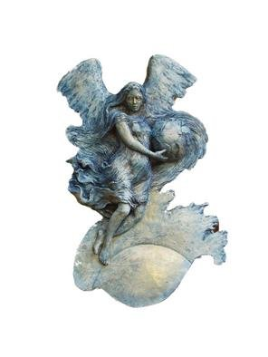 Bruce Naigles: 'Dawn', 2004 Other Sculpture, Visionary. Originally called' earth' s guardian angel' she represents the rising of a new time, a new foundation rooted in a common understanding of man' s purpose. It is cast in a stone hard reinforced plaster. Also available in bronze....