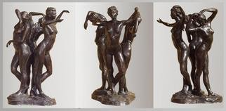 Bronze Sculpture by Bruce Naigles titled: The 3 Graces, 2000