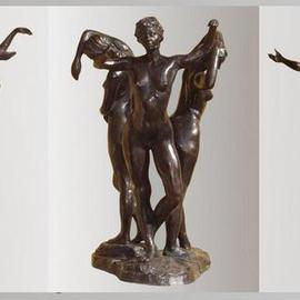 Bruce Naigles Artwork The 3 Graces, 2000 Bronze Sculpture, Dance