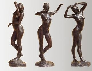 Bronze Sculpture by Bruce Naigles titled: The 3 Graces   individually, 2000