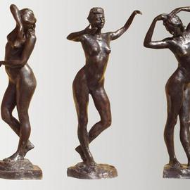 Bruce Naigles Artwork The 3 Graces   individually, 2000 Bronze Sculpture, Dance