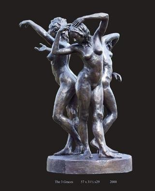 Bronze Sculpture by Bruce Naigles titled: Three Graces, created in 2000