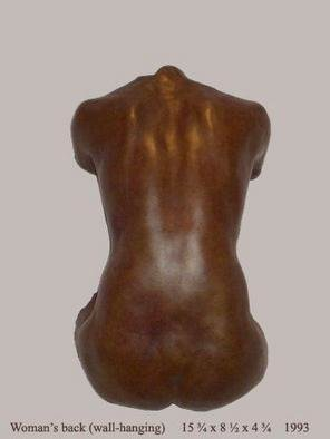 Bronze Sculpture by Bruce Naigles titled: back against the wall, created in 2006