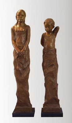 Bruce Naigles Artwork brother and sister, 2006 Bronze Sculpture, Children