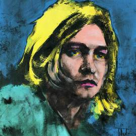 Jaroslaw Glod: 'Kurt Cobain', 2015 Other Painting, Famous People. Artist Description:   Pop Art style portrait of Kurt Cobain. Acrylic painting on cotton canvas 50cmx60cm. Mixed media - acrylic, guache.             ...