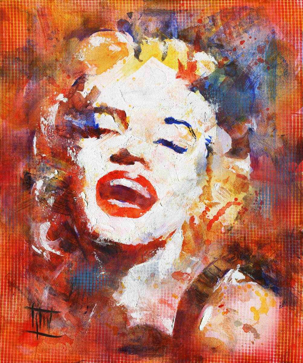 acrylic famous painting monroe marilyn artwork jaroslaw glod paintings portrait artist drawings pop artworks canvas oil artists close absolutearts hendrix