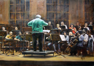 Artist: Jaroslaw Glod - Title: Symphonic Orchestra II - Medium: Oil Painting - Year: 2011