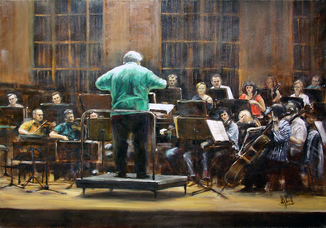 Jaroslaw Glod  'Symphonic Orchestra II', created in 2011, Original Painting Other.