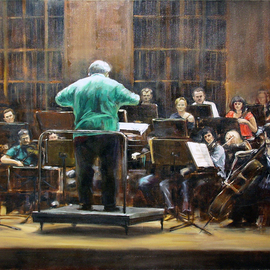 Jaroslaw Glod Artwork Symphonic Orchestra II, 2011 Oil Painting, Music