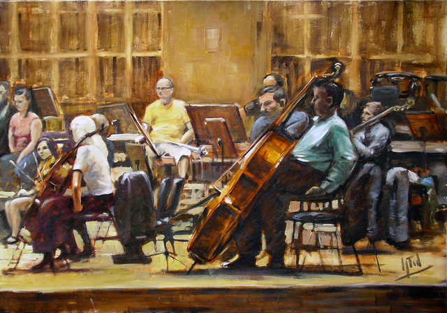 Jaroslaw Glod  'Symphonic Orchestra III', created in 2011, Original Painting Other.