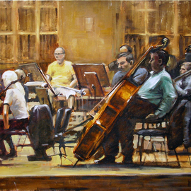 Jaroslaw Glod Artwork Symphonic Orchestra III, 2011 Oil Painting, Music
