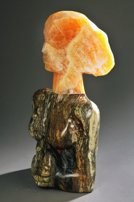 Stone Sculpture by Jane Jaskevich titled: Aurora Calcite Silhouette, 2014