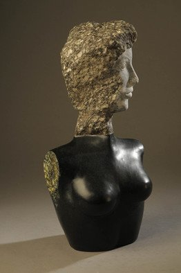 Jane Jaskevich Artwork Black and White Silhouette, 2014 Stone Sculpture, Figurative