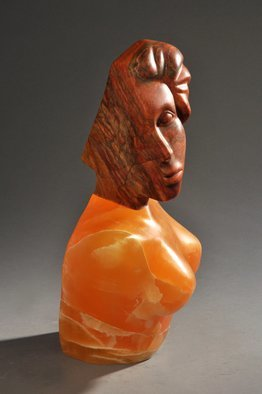 Jane Jaskevich Artwork Desert Calcite Silhouette, 2014 Stone Sculpture, Figurative
