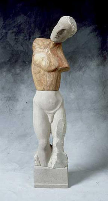 Jane Jaskevich  'Kouros Revisited', created in 2003, Original Sculpture Wood.