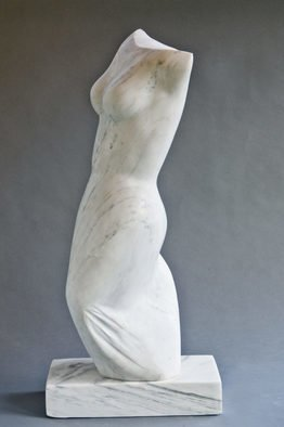 Jane Jaskevich: 'clarissa', 2017 Marble Sculpture, Figurative. abstract expressive stone figurative sculpture...