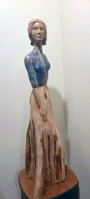 Jane Jaskevich: 'isa', 2018 Mixed Media Sculpture, Figurative. stone and wood figurative sculpture...