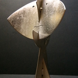 Francisco Javier Astorga Ruiz Del Hoyo.: 'dark side of the moon', 2018 Steel Sculpture, Abstract. Artist Description: The beauty and mystery of the moon light. ...