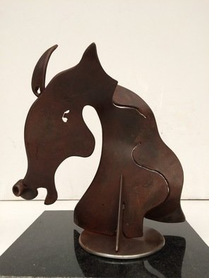 Francisco Javier Astorga Ruiz Del Hoyo.: 'head of a horse', 2019 Steel Sculpture, Abstract Figurative. Artist Description: The strength and beauty of the horse head. ...