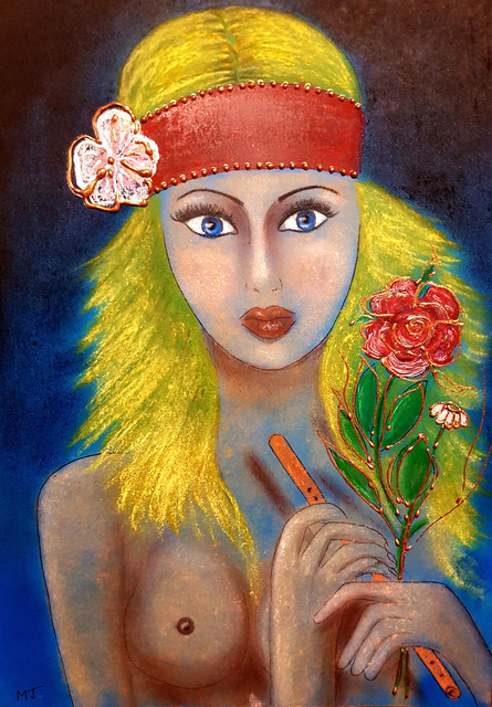 Javorkova Marie  'Color Of Love', created in 2012, Original Painting Oil.
