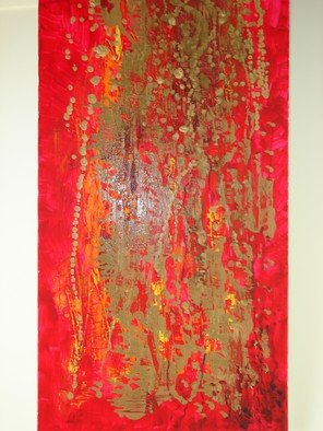 Rohan. S Jayasinghe: 'Riot in Red', 2007 Tempera Painting, Abstract.