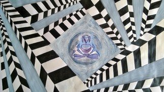 Jaymin Makwana: 'untitled ', 2015 Acrylic Painting, Meditation.   God always help us if we believe.  ...