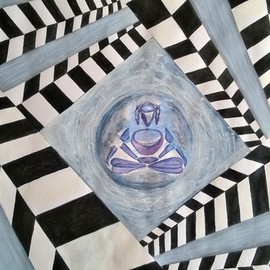 Jaymin Makwana: 'untitled ', 2015 Acrylic Painting, Meditation. Artist Description:   God always help us if we believe.  ...