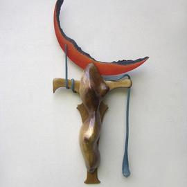 Jay W. Ames Artwork Lunar Crucifix, 2003 Assemblage, Abstract