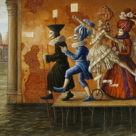 Jake Baddeley Artwork Via Delle Aqua, 2009 Oil Painting, Surrealism