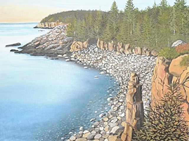 Janet Glatz  'Monument Cove Acadia', created in 2020, Original Painting Oil.