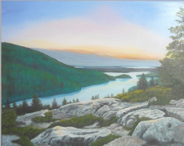 Janet Glatz  'Mountain View Acadia', created in 2020, Original Painting Oil.