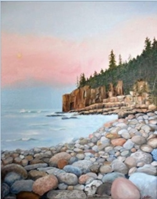 Janet Glatz  'Otter Cliffs Acadia', created in 2020, Original Painting Oil.