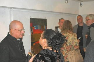 Color Photograph by Jean Claude titled: JC at the Opening party at MarziArt shot by Byron Coons, 2009