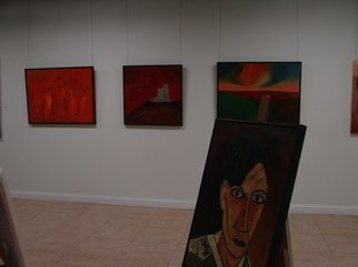 Color Photograph by Jean Claude titled: Paintings at EXOR GALLERIES, created in 2009