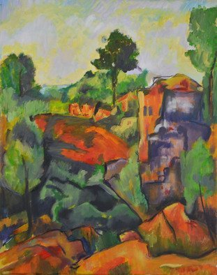 Jamie Boyatsis Artwork Paul Cezanne Copy , 2014 Oil Painting, Abstract Landscape