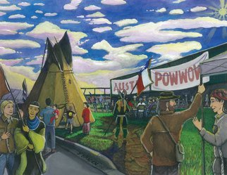 Jay Braden: 'austin annual powwow', 2010 Other Painting, Culture. Depiction of the Austin Annual Powwow, held the first Saturday each November in the Texas Capitol City. ...