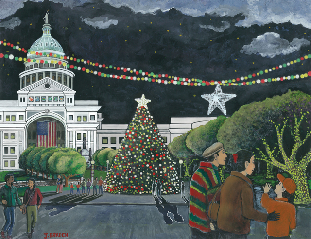Jay Braden  'Capitol City Christmas', created in 2010, Original Illustration.