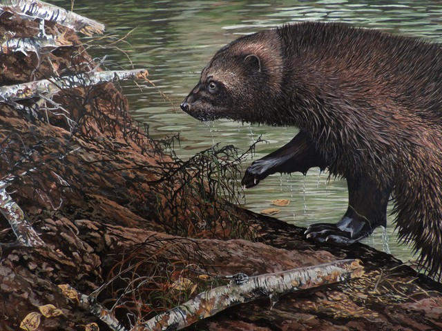 Jeff Cain  'Beaver Hunt', created in 2016, Original Painting Other.