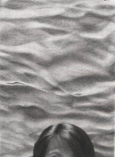 Jason Cimenski  'Thursdays High Tide', created in 2008, Original Drawing Charcoal.