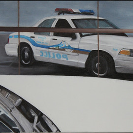 John Chicoine: '1010 Reflection', 2011 Oil Painting, Automotive.